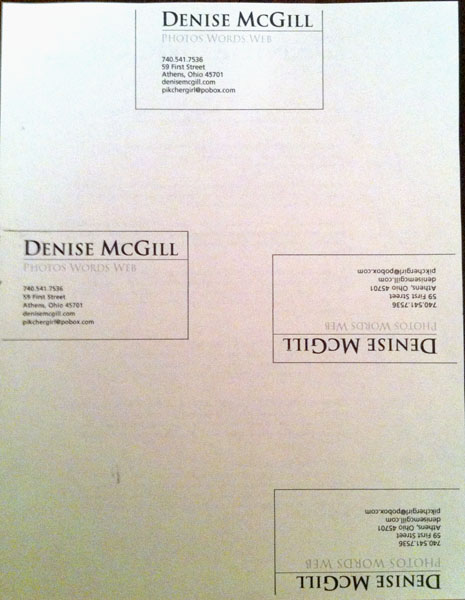 McGill business card current