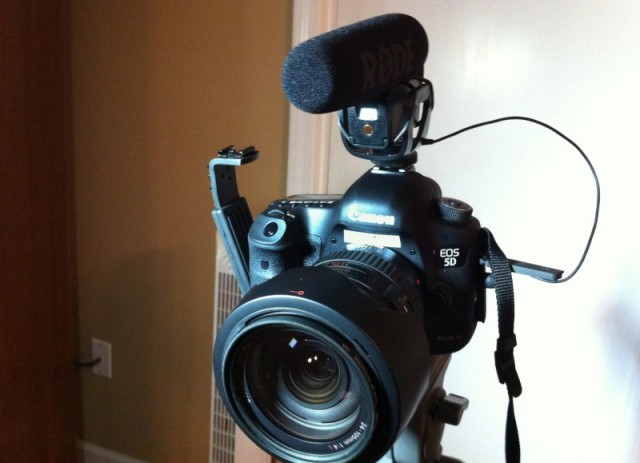 Canon 5D Mark III with Rode VideoPro Mic