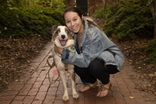 Jessica Epps and her pup photographed by Team 3